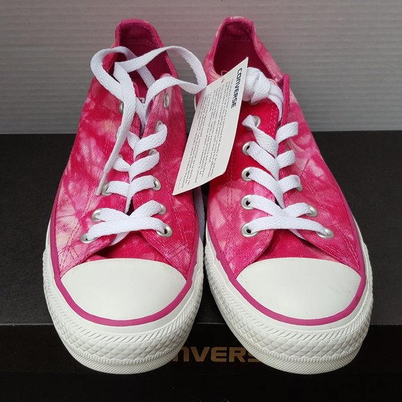 New Converse Pink White TIE DYE Sneaker Shoes 8.5